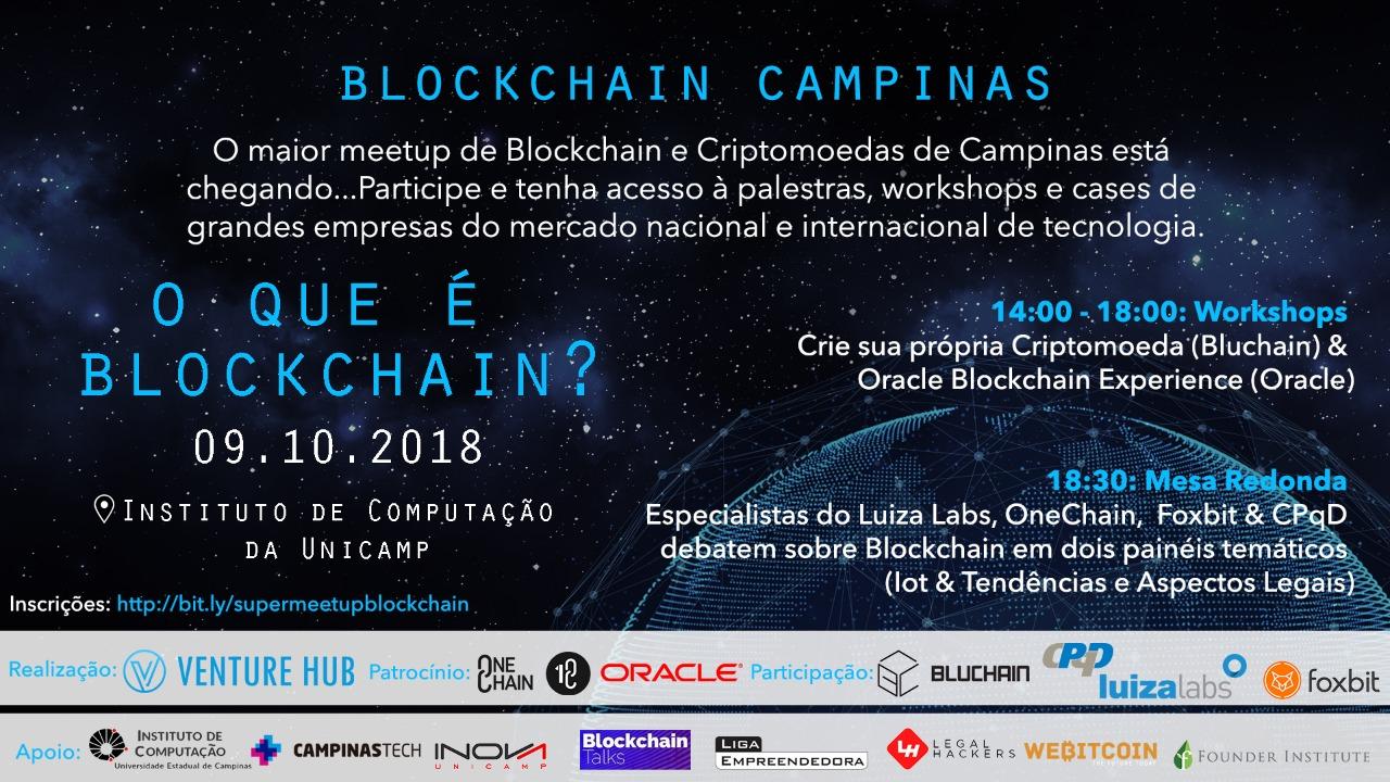 WeBitcoin: Super Meetup: Grupo Blockchain Campinas sediará mega evento em outubro