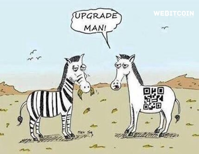 Meme Bitcoin upgrade man