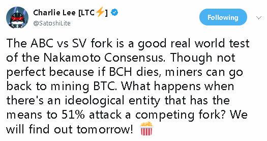 Webitcoin: Charlie Lee: a guerra ABC vs SV testará o consenso de Nakamoto