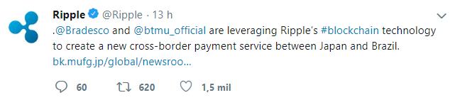 WeBitcoin: Bradesco inicia parceria com Banco MUFG para criar novo serviço de pagamento utilizando o Blockchain da Ripple