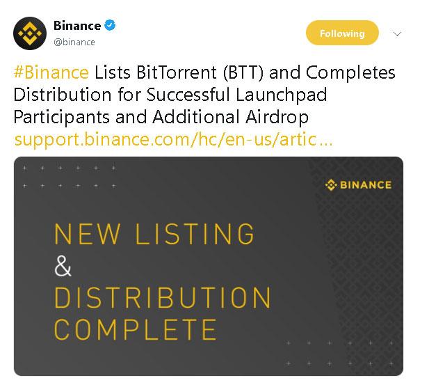 Webitcoin: Justin Sun anunciou o airdrop bem sucedido de 5 mil BitTorrent tokens