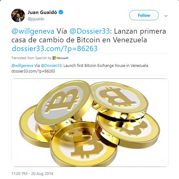 Webitcoin: Bitcoin receberá provável empurrão do governo interino da Venezuela
