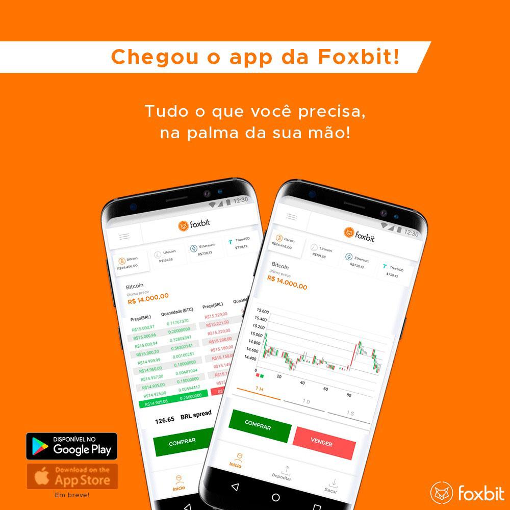 Webitcoin: Foxbit lança aplicativo para dispositivos Android