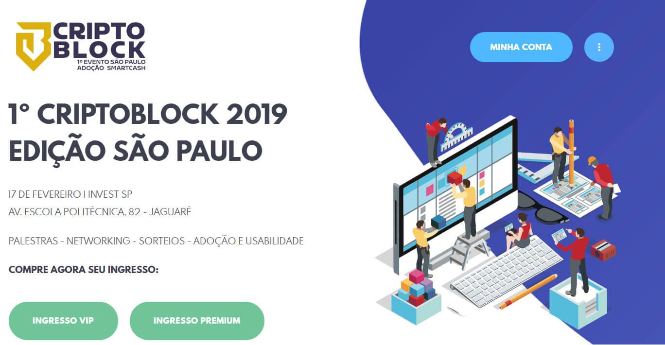 Webitcoin: Criptoblock: importante evento da cripto esfera será realizado em fevereiro
