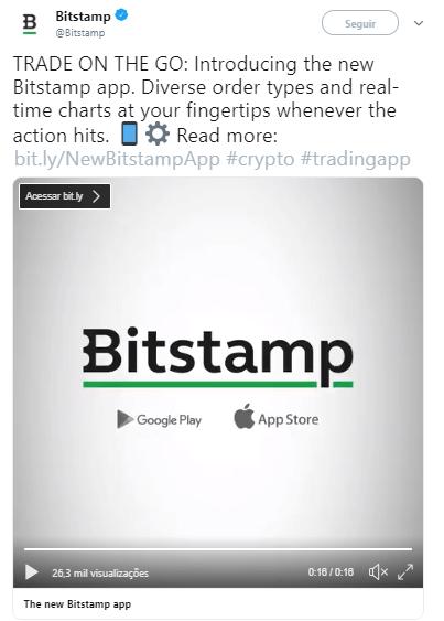 WeBitcoin: Exchange Bitstamp lança novo app de trading para Android e IOS