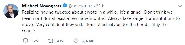 WeBitcoin: Mike Novogratz declara que as criptomoedas podem continuar no vermelho por mais alguns meses