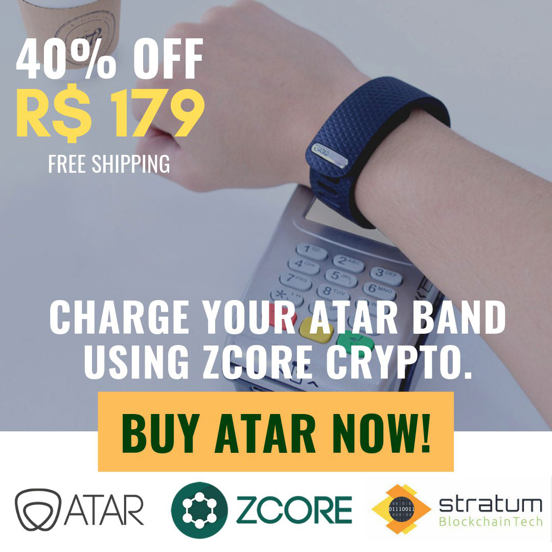Webitcoin: Para celebrar parceria com a ZCore, Atar Band está com 40% de desconto!
