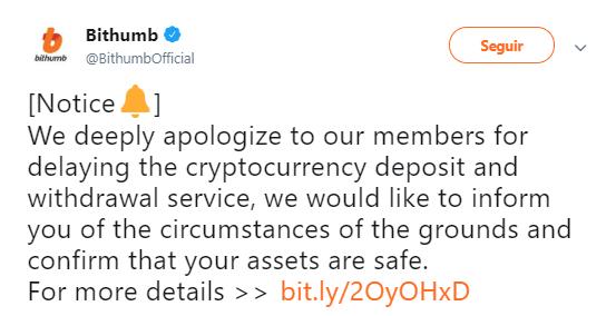 WeBitcoin: Hackeada novamente, Bithumb perde mais de 3 milhões de EOS