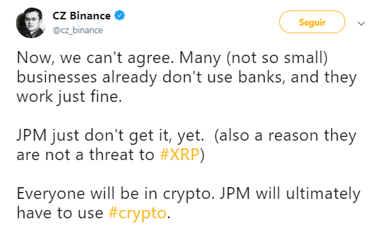 """WeBitcoin: Executivo da JP Morgan: """"Há mais parceria do que competição"""" entre bancos e o mercado de cripto"""