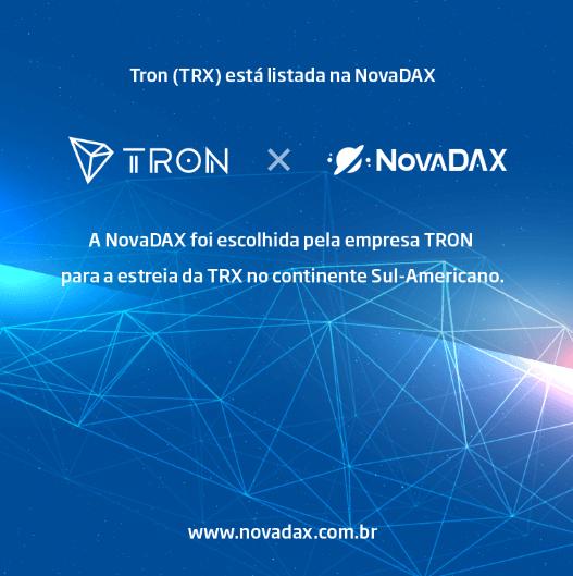WeBitcoin: NovaDAX se torna a primeira exchange sul-americana a listar TRON (TRX)