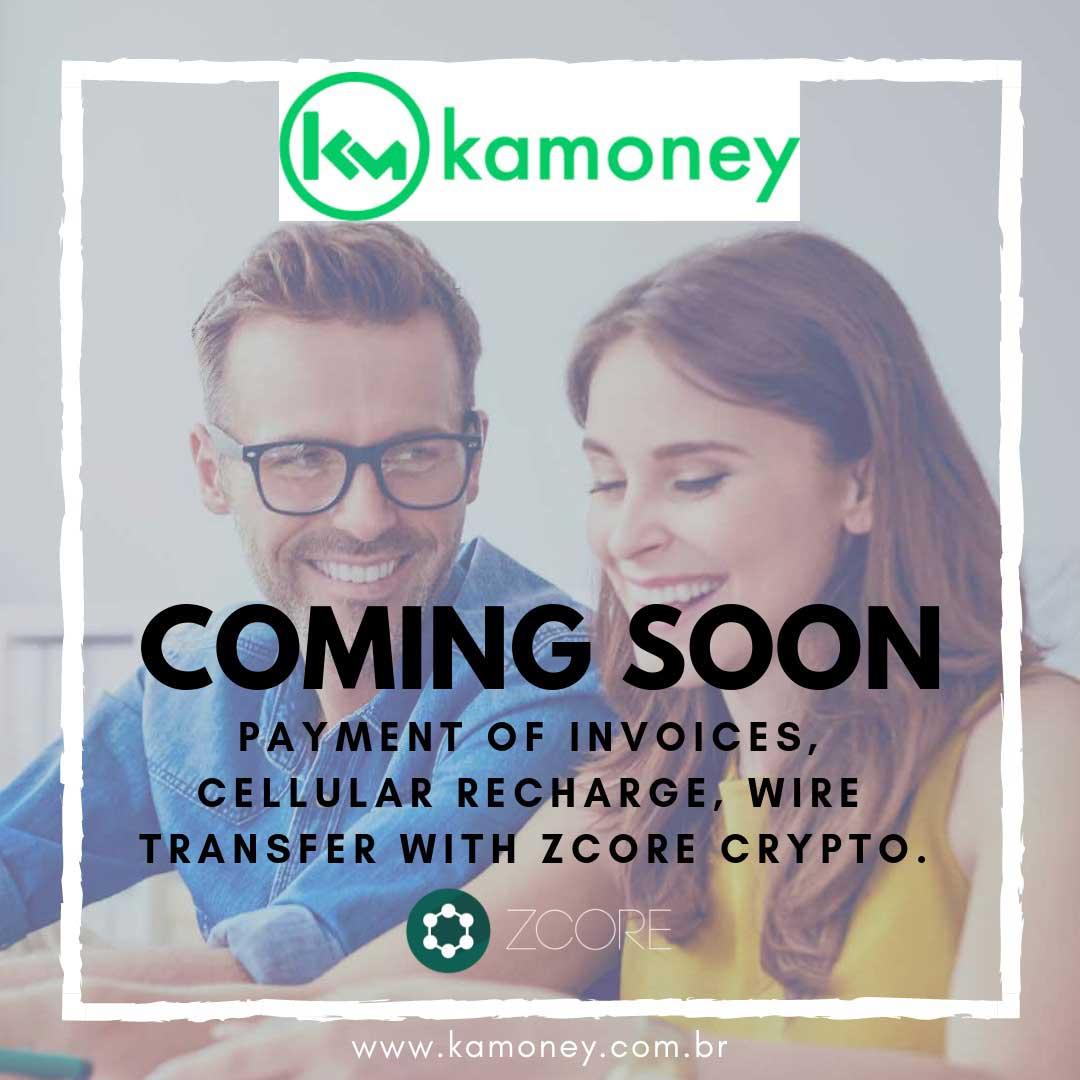Webitcoin: Kamoney e ZCore: criptomoeda brasileira é integrada ao sistema de cripto pagamento
