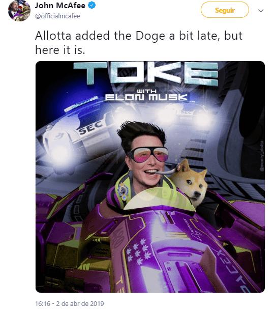 """WeBitcoin: """"Dogecoin pode ser minha criptomoeda favorita"""", diz Elon Musk, CEO da Tesla"""