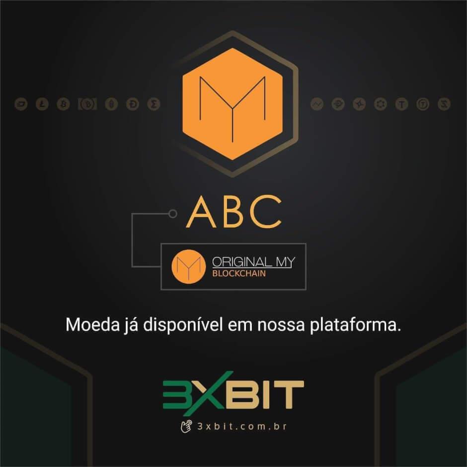 WeBitcoin: Exchange 3xbit lista token ABC da OriginalMy