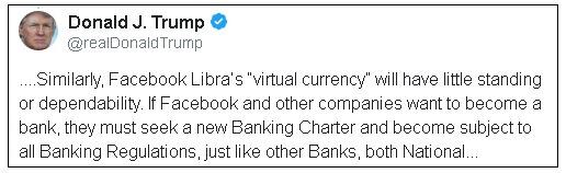 Donald Trump critica o Bitcoin e a Libra 3