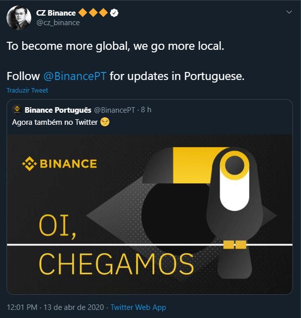 Binance Língua Portuguesa