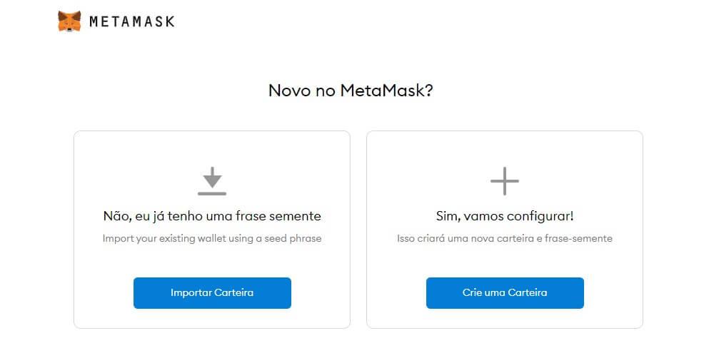 criar carteira Metamask