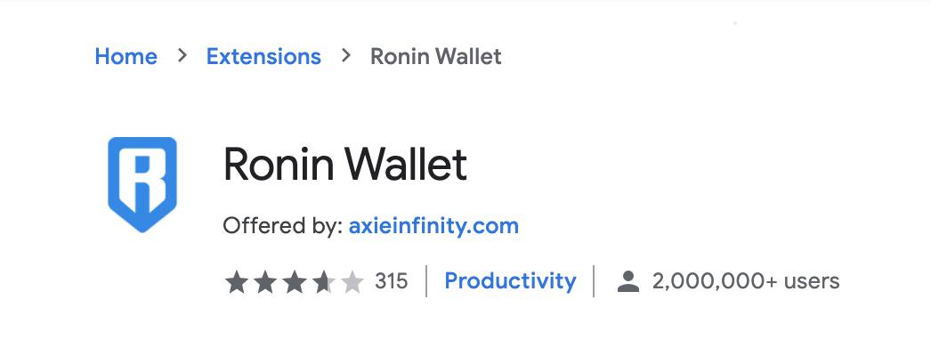 Wallet Ronin